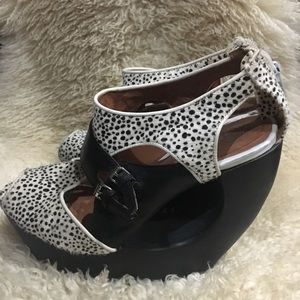 Jeffrey Campbell Spotted Cutout Wedges